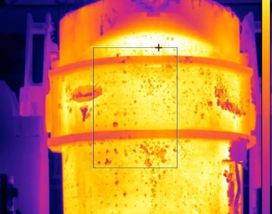 Thermal view of Ladle refractory